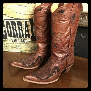 🥂Corral Vintage fango goat sequence boots sz 10